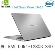 P2-29 6G RAM 128G SSD Intel Celeron J3455 NvIDIA GeForce 940M Gaming laptop keyboard and OS language available for choose