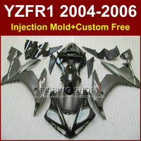 7 quà tặng Tiêm xe gắn máy đua bộ phận tạo kit cho YAMAHA 04 05 06 YZFR1 YZF 1000 YZF R1 2004 2005 2006 bằng phẳng màu đen fairing bộ dụng c