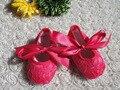 2015 Nuevos resortes de diseño hot pink zapatos de bebé Niña Zapatos del Niño/zapatos Recién Nacidos calzado KP-A43