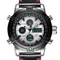 Men Military Watches Dive 50M Genuine Leather Strap LED Watches Men Top Brand Luxury Quartz Watch reloj hombre Relogio Masculino