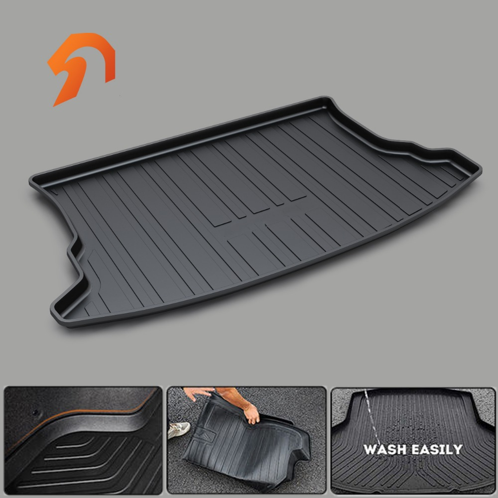FIT FOR KIA SPORTAGE BOOT LINER REAR TRUNK CARGO MAT 2011-2017 FLOOR TRAY CARPET MUD COVER PROTECTOR 3D car-styling carpet rugs 3d car styling custom fit car trunk mat all weather tray carpet cargo liner for honda odyssey 2015 2016 rear area waterproof