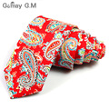 2016 man paisley neck tie male slim necktie vintage skinny kravat narrow neckwear high quality