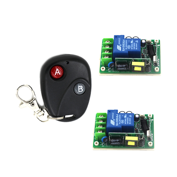 Intelligent AC 85V-250V 30A 1 Channel RF 3 Modes Wireless Remote Control Switch 1 Transmitter+2 Receiver SKU: 5490 2 working ways rf wireless intelligent