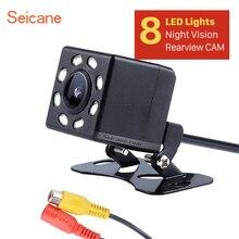 Пластиковый 648*488 пикселей провод HD Автомобильная камера заднего вида Обратный парковочный резервный монитор Комплект CCD CMOS с 8 светодиодный дисплей