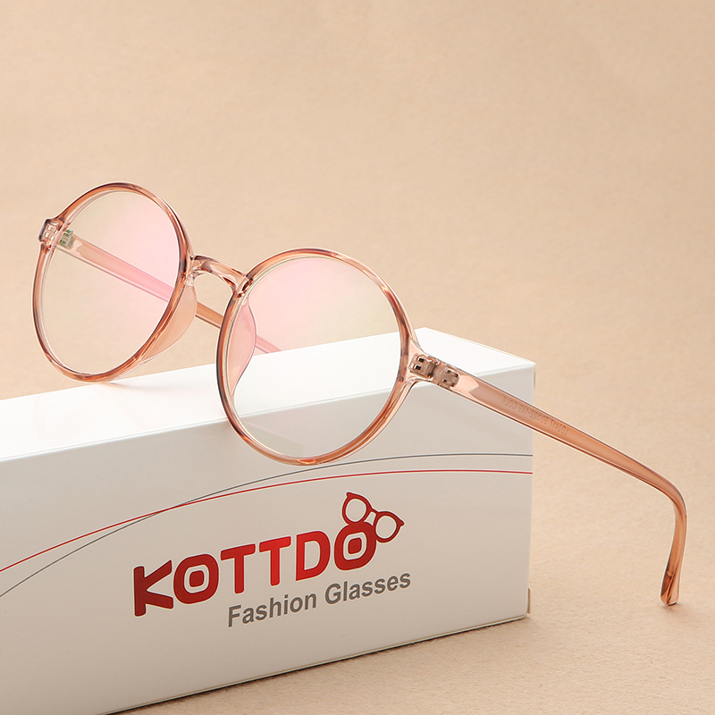 2019 New Round Glasses Frame Flat Mirror Fashion Cute Men And Women Glasses Student Trend Myopia Glasses Frame Eyeglasses