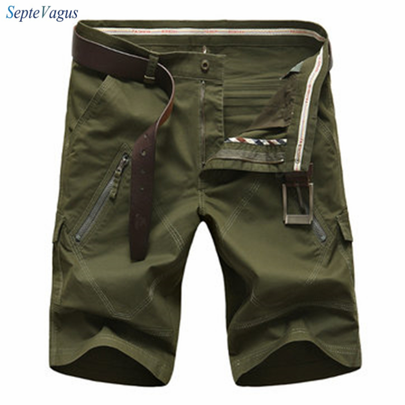 Cotton Shorts for Men Cargo Shorts Homme Mens Fashion Casual Summer Straight Leg Army Short Mens Boardshorts Plus Size 30-50