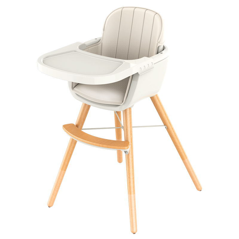 все цены на JOLOBEBE Nordic wind simplified children's solid wood dining chair Deluxe beech baby chair Multipurpose chair free shipping онлайн