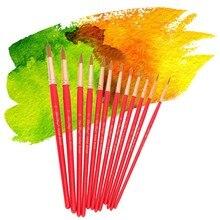 12 шт./компл. Совет художник краски кисточки нейлон волос с деревянной ручкой акварель кисть для рисования маслом инструмент DIY интимные аксессуары