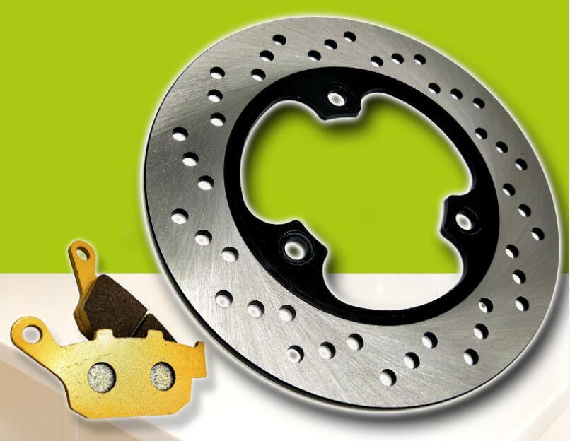 Motorcycle modified rear brake pad + rear brake disc suitable for Honda CBR19 CBR23 NSR250 P3 VT250 new motorcycle rear brake disc brake disc suitable for yamaha fz600 fzs600 srx600 yx600 yzf600