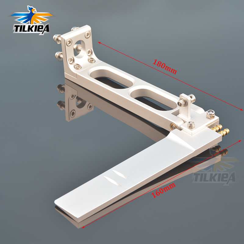 180x160mm Aluminum Rudder Dual Water Pickup For 23-26cc Gas Engine RC Boat Rudder Total Length180mm Rudder Sheet Depth 160mm