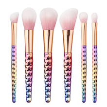 New 6pcs Pro makeup brushes Foundation Powder cosmetics make up brushes Face & eyebrow eyes Concealer brushes Set Beehive Handle