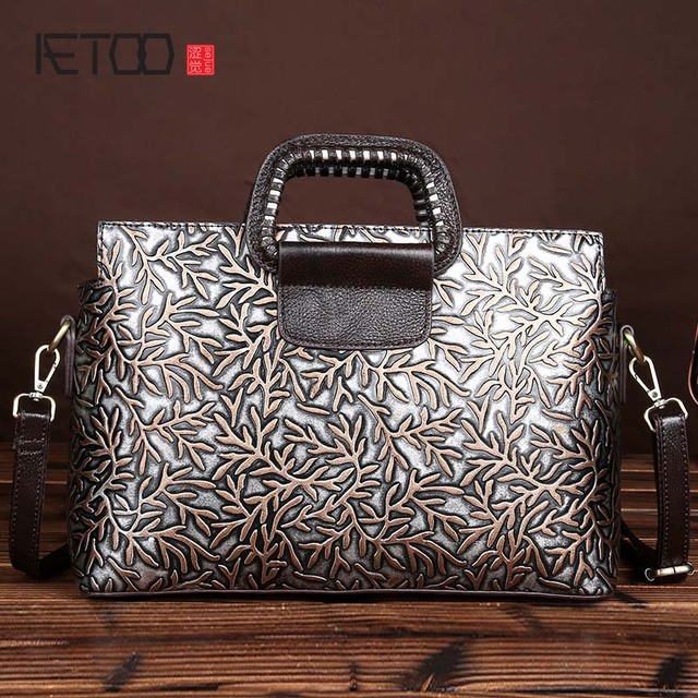 996d0c11c9 AETOO brand New retro fashion handmade wiping embossed leather handbag bag  Messenger bag fashion vintage handbag women