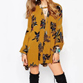 Womens Autumn Long Loose Casual Cotton & Linen Blouses High Quality Long Sleeve Floral Printed Female Boho Tops & Shirts