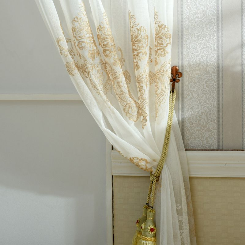 Floral Door Window Curtain Drape Panel Sheer Scarf Home Room Valances Divider 2018 Hot Sale