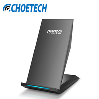 Qi Wireless Charger CHOETECH 10W 2 Coils Wireless Charger For Samsung Galaxy S8 Plus S7 S6