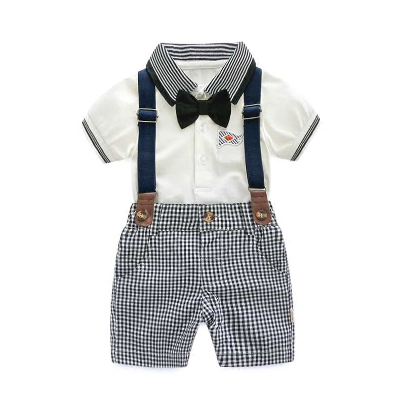 Baby Boy Clothes Set for Newborn POLO Shirt +Grey Plaid Shorts Children Clothing Set Summer Outfits Clothes Baby Clothing Set shirt baby boy summer clothes shorts sets baby boy set 100 cotton newborn baby girl summer clothes infant clothing suit outfits