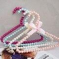 10 colors children plastic pearl hanger pet dog hangers for clohtes pegs Kids child baby clothes hanger