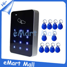 Free 10piece  Keyfobs Rfid entry management rfid card entry management contact keypad entry management wiegand 26 enter Free delivery