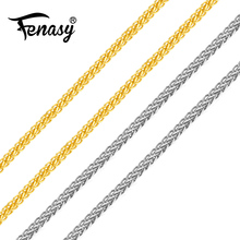 Gold Necklace Chain-Cost White Love Women Yellow 18K FENASY for Best Gift Price-Sale