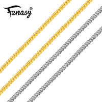 FENASY Genuine 18K White Yellow Rose Gold Chain Cost Price Sale Pure 18K Gold Necklace for love Best Gift For women