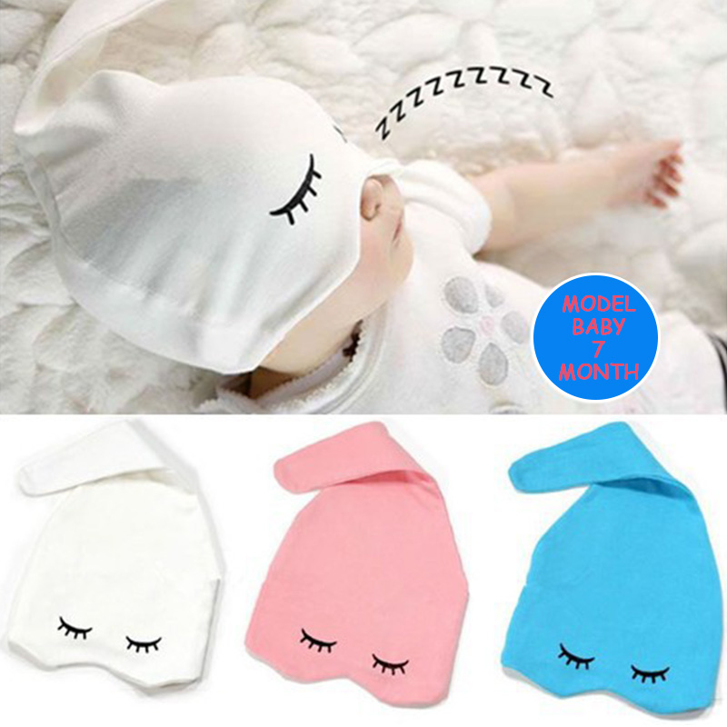 YK&Loving Newborn Baby Caps With Sleeping Eyes Design Fashion 100% Cotton 0-2 Year Newborn Infant Baby Hats ...