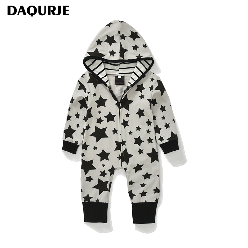 Autumn&Winter Newborn baby clothes fashion infant baby girl boy Rompers Cotton Long Sleeve Star pattern kids Jumpsuits onesie new 2016 autumn winter kids jumpsuits newborn baby clothes infant hooded cotton rompers baby boys striped monkey coveralls