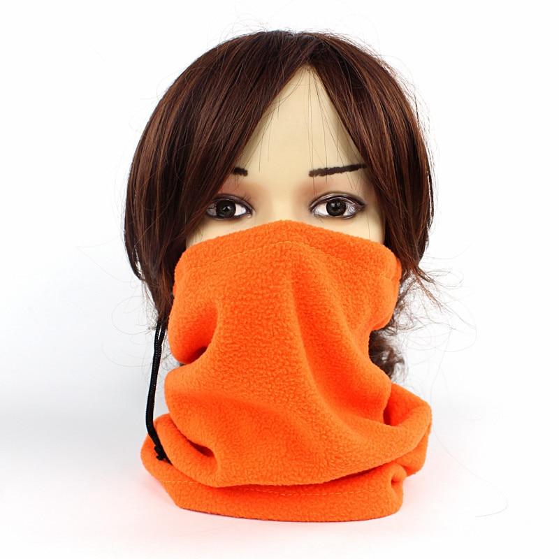 1pcs 3 in 1 Winter Unisex Women Men Sports Thermal Fleece Scarf Snood Neck Warmer Face Mask Beanie Hats