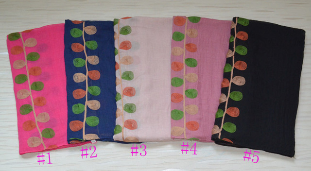 Bufandas de primavera para mujer, de algodón liso hijab, de la india, hijab musulmán, bufanda de bordado estéreo de algodón, pashmina bufanda mujer capa, envoltura