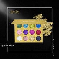 12 Цветов косметический Макияж нажатии блеск для век Pallete Марка maquiagem Make Up Тени для век Палитры
