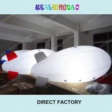 4 м/13 футов надувной рекламный гелиевый блимп/дирижабль/Zeppeline для мероприятий с светодиодный светильник внутри