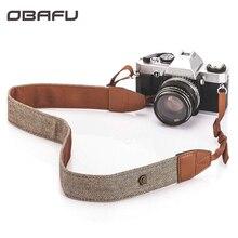 Универсальный плечевой ремень для камеры Регулируемый хлопковый кожаный ремень для Sony Canon Nikon DSLR камеры ремень аксессуары часть