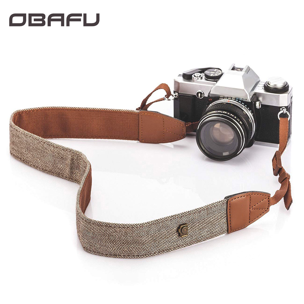 Universal Camera Shoulder Neck Strap Adjustable Cotton Leather Belt For Sony Canon Nikon DSLR Cameras Strap Accessories Part magnetic attraction bluetooth earphone headset waterproof sports 4.2