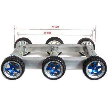 детские электромобили   DIY 6WD 1:34 металлический умный RC робот автомобиль 330 об/мин 0.24A пульт дистанционного управления робот шасси Базовый комплект и 12 В CGM-25-370 Мотор Д...