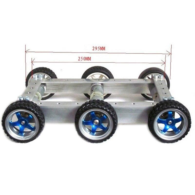Diy 6wd 1:34 metal inteligente rc carro robô 330 rpm 0.24a controle remoto robô chassi base kit & 12 v CGM 25 370 motor crianças brinquedos - 3
