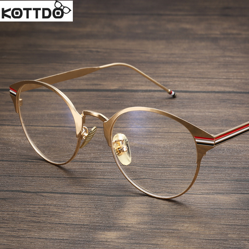 vintage frame glasses gold men