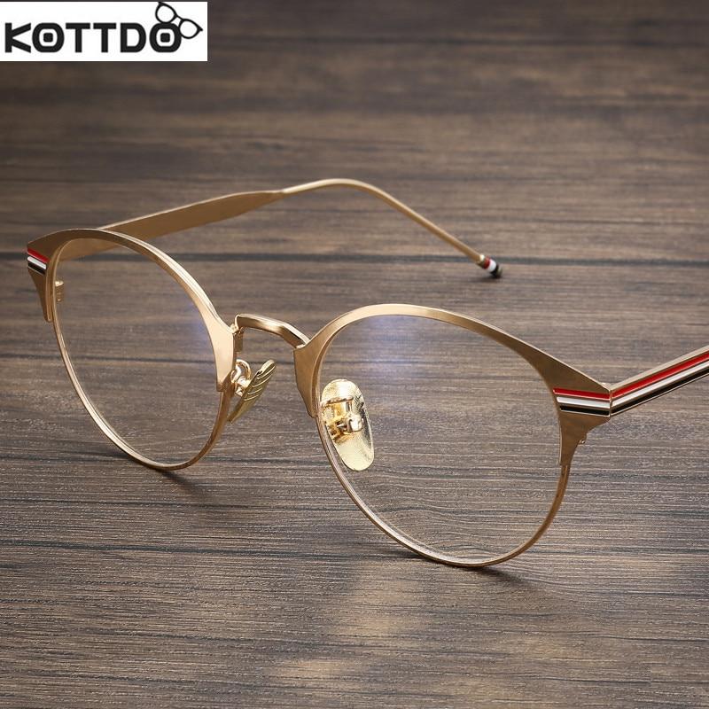 vintage frame glasses gold men