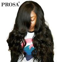 250% Density Lace Front Human Hair Wigs For Women Black Color Pre Plucked Brazilian Lace Frontal Wig Body Wave Remy Prosa