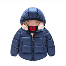 7-24months Winter Newborn Baby Snowsuit Cotton Girls Coats And Jackets Baby Warm Overall Kids Boy Jackets Outerwear Clothes