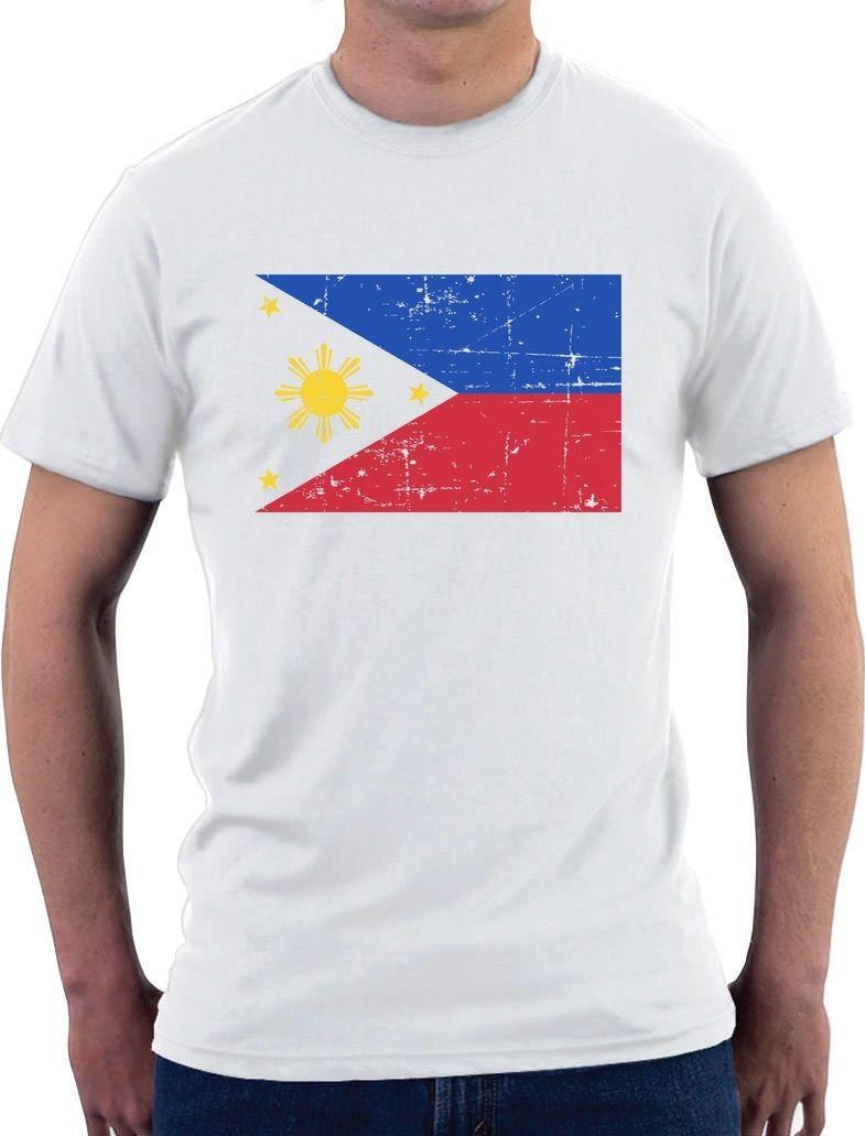 Design t shirt idea - Print T Shirt Mens Summer Philippines Flag Vintage Style Retro T Shirt Gift Idea Male Designing T Shirt