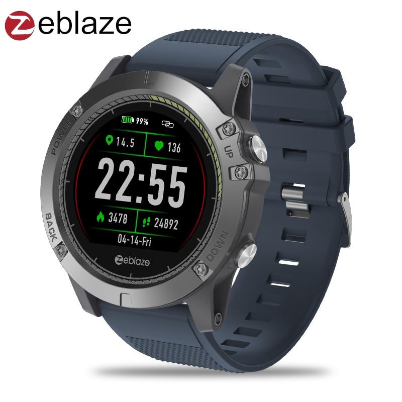 Mise à niveau Zeblaze AMBIANCE 3 HR Couleur Affichage IPS Smartwatch IP67 Étanche Dispositif Portable Moniteur De Fréquence Cardiaque En Plein Air Montre Intelligente