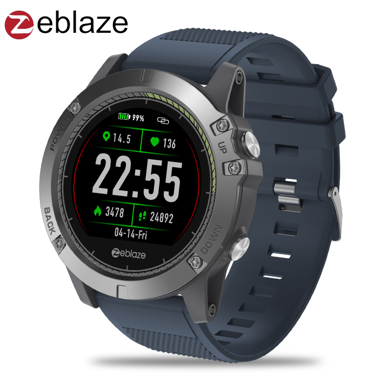 Upgrade Zeblaze VIBE 3 HR Color Display IPS Smartwatch IP67 Waterproof Wearable Device Heart Rate Monitor Outdoor Smart Watch