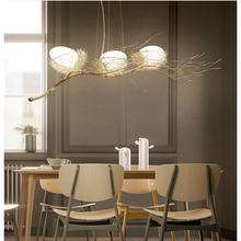 Buy nest chandelier and get free shipping on aliexpress birds nest chandelier lighting modern led ac 90v 260v e27 chandeliers for dining room for mozeypictures Image collections