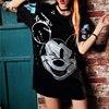 Women Summer Plus Size Dress Short Sleeve Streetwear Casual Loose O-Neck   Sequin Party Club Mini Dresses 1