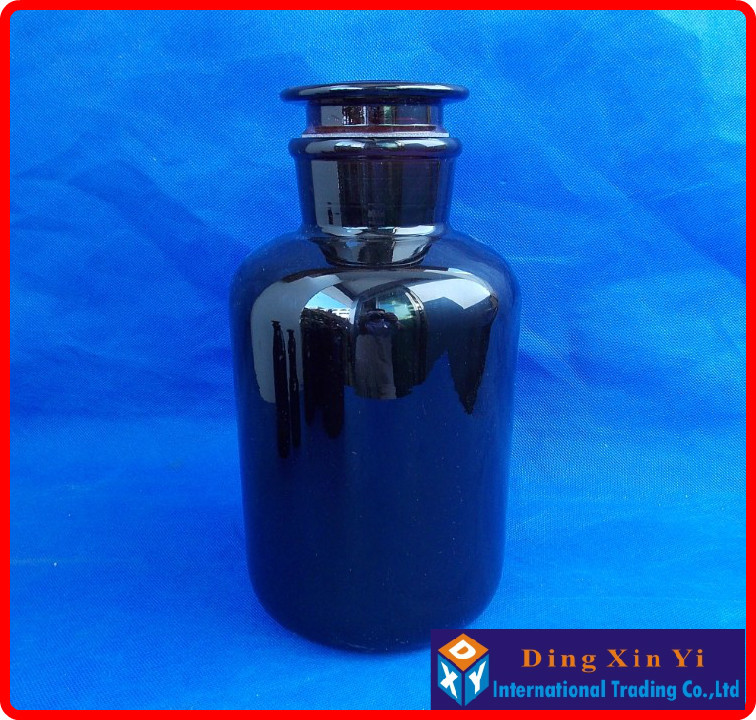 2500ml Wide mouth reagent bottle,2500ml Amber Laboratory Bottle  with ground-in glass stopper