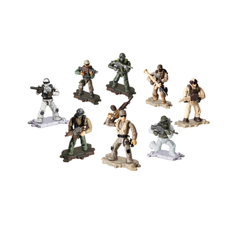 1:36 scale Modern military army Specia Force action figures mega block ww2 weapon gun building bricks toys for boys gifts