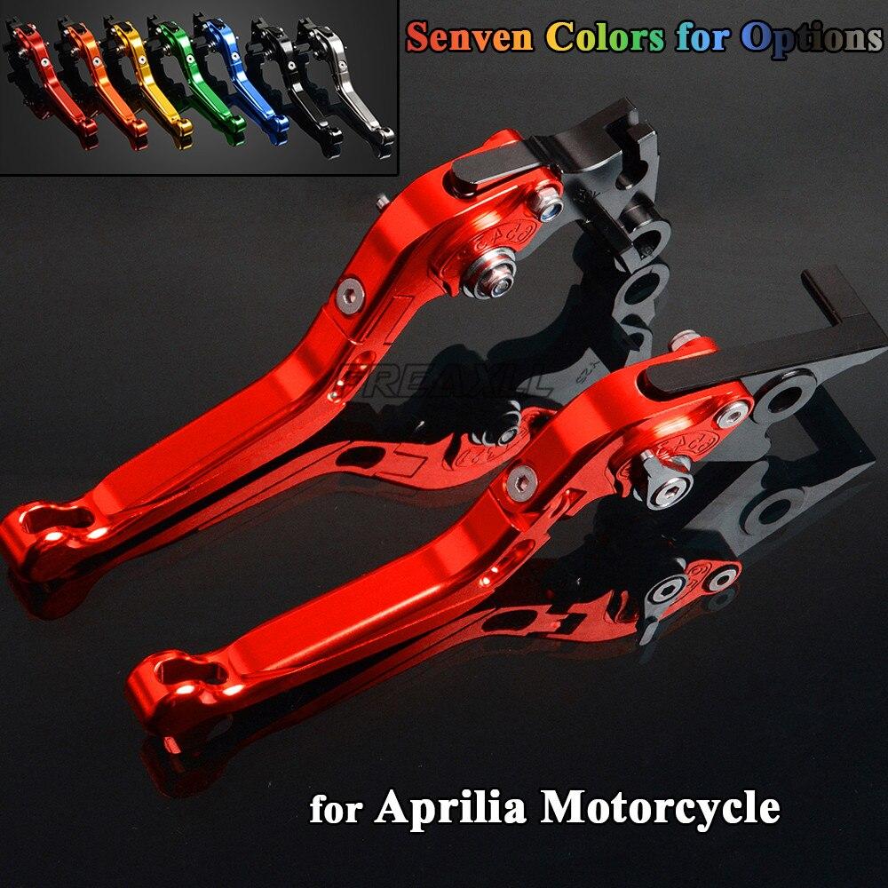 CNC Aluminum Motorbike Levers Motorcycle Brake Clutch Foldable Extendable Adjustable For Aprilia DORSODURO 1200 750