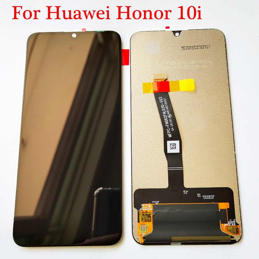 Original สีดำ 6.21 นิ้วสำหรับ Huawei Honor 10i HRY-LX1T จอแสดงผล LCD Touch Screen Digitizer ASSEMBLY REPLACEMENT Parts