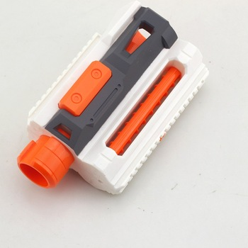 Modified Part Front Tube Decoration with Upper and Lower Guide Rail for Nerf Elite Series - Orange + Grey