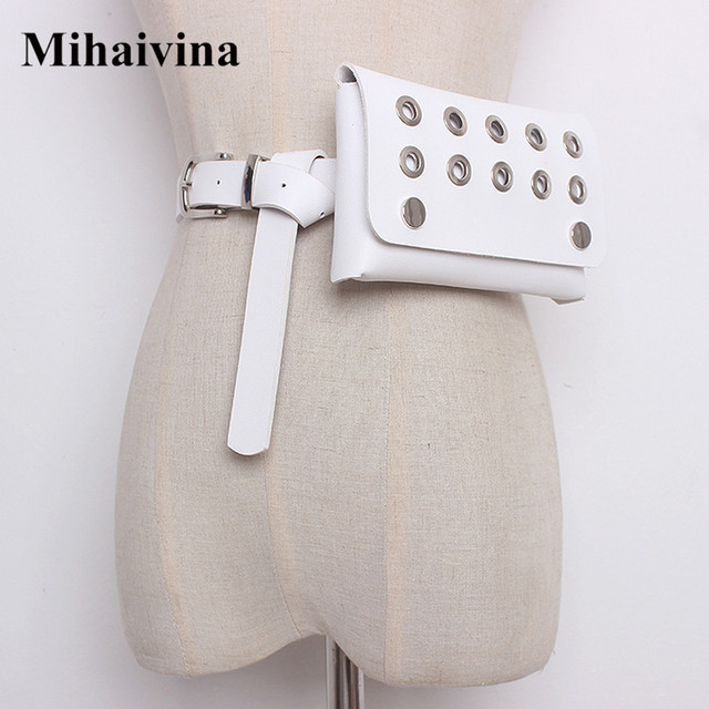 Mihaivina Fashion Women Waist Pack Femal Belt Bag Hollow Phone Pouch Bags Brand Design Female Waist Bag Ladies Fanny Pack Bolosa