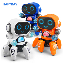 цена на Dancing robot Action Figure Toy Electronic intelligent Walking Robot Toy for Boys Children Birthday Gift
